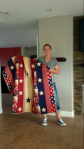 Quilts of Valor quilt given to Mary Meier's niece, Sarah with daughter Ella.